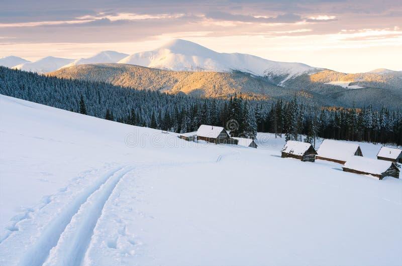 Avventura della montagna di inverno dallo sci immagine stock