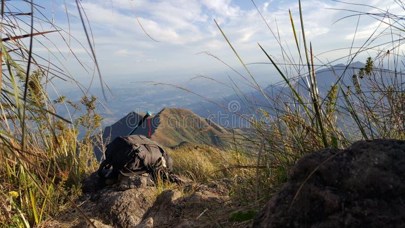 Avventura di trekking fotografia stock