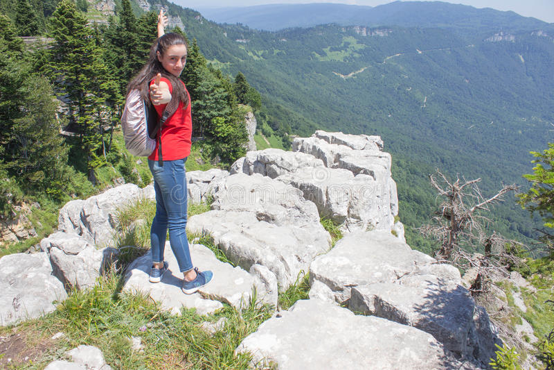 Avventura di viaggio e fare un'escursione stile di vita attivo e sano di attività, durante il giro di fine settimana e di vacanze immagini stock libere da diritti