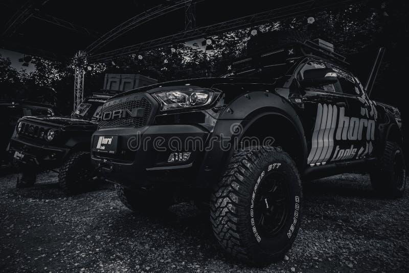Avventura e fiera fuori strada 4WD in cattivo Kissingen fotografia stock libera da diritti