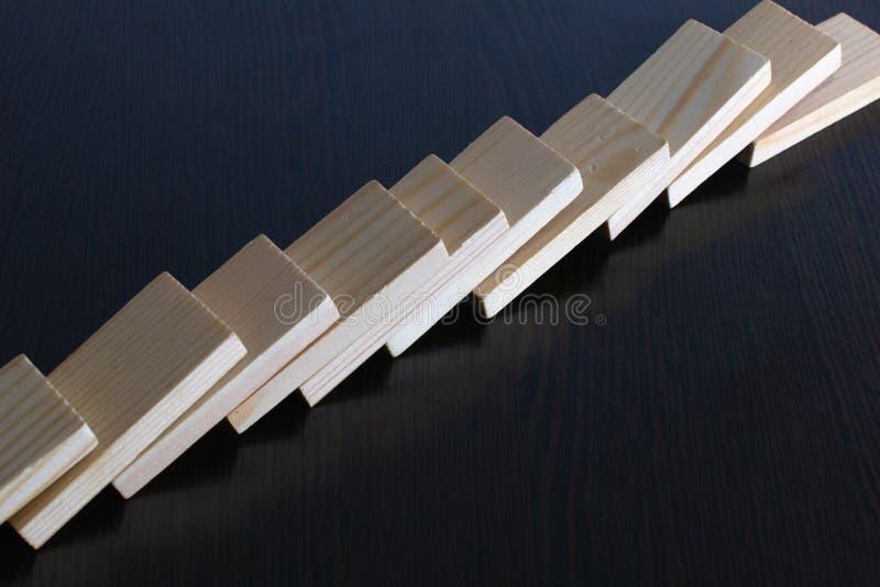 Avverkad dominobricka arkivbilder