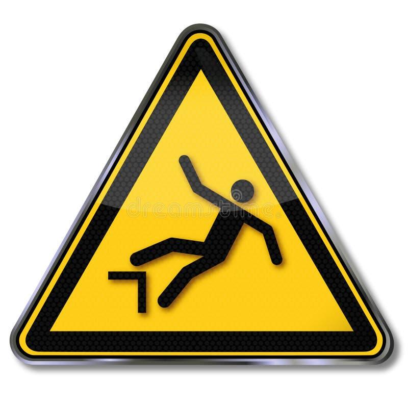 Avvertendo per la caduta illustrazione vettoriale