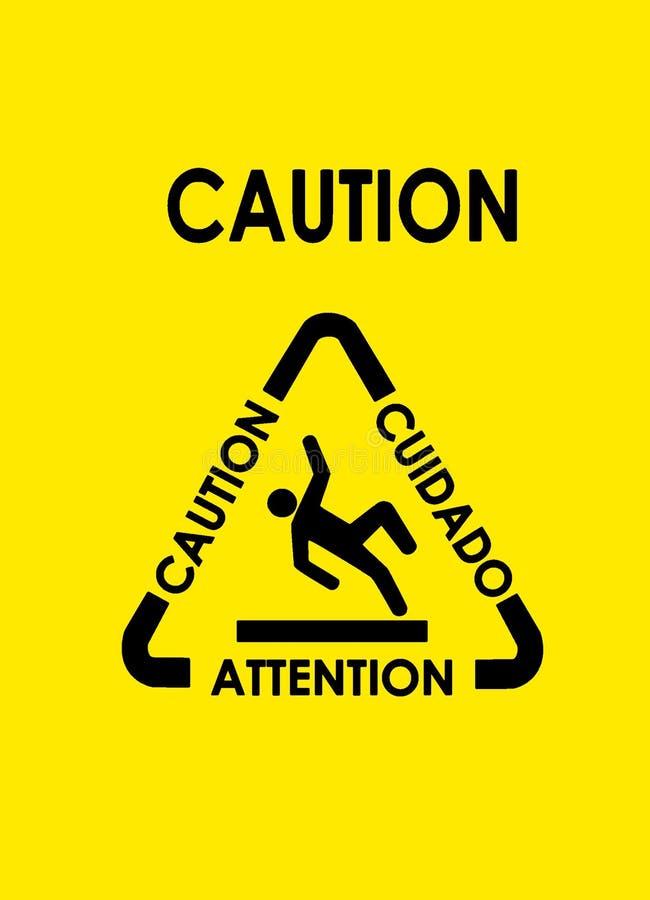 Avvertenza! illustrazione vettoriale