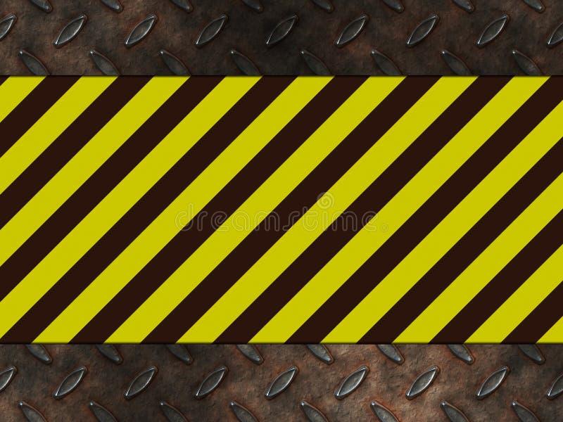 Avvertimento del pericolo di rischio illustrazione di stock