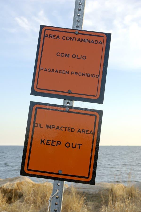 Avvertimento di contaminazione fotografie stock libere da diritti