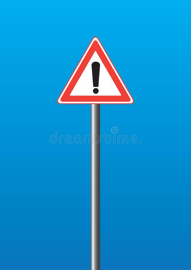 Avvertimento-segno illustrazione di stock