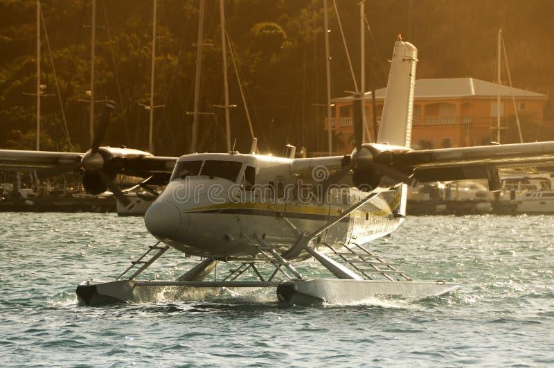 Avvicinamento del Seaplane fotografie stock libere da diritti