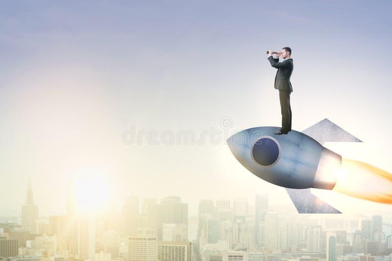 Avvii concetto su, di imprenditorialità e della ricerca illustrazione di stock