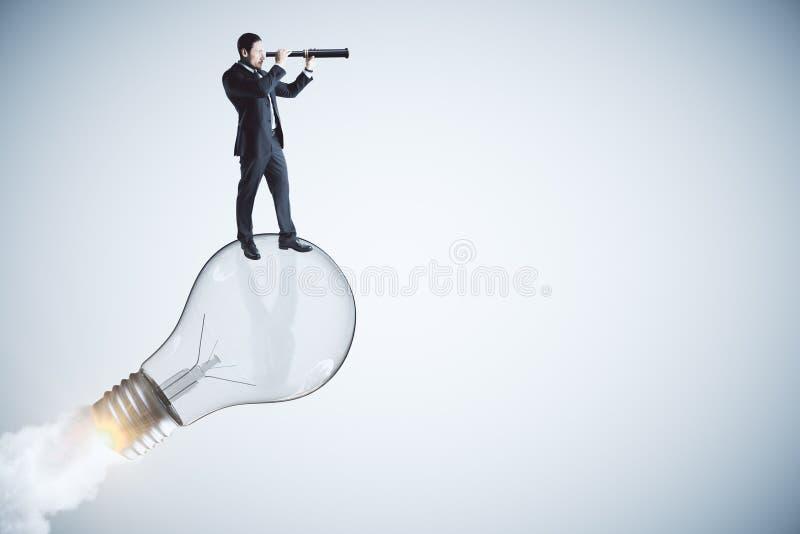 Avvii su, idea e concetto della visione immagine stock