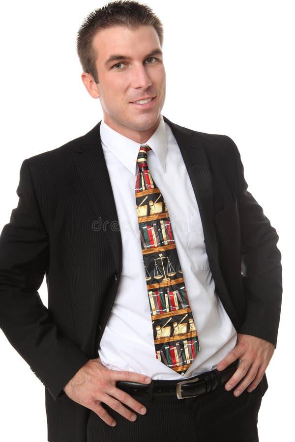 Avvocato dell'uomo di affari con il legame legale immagini stock libere da diritti
