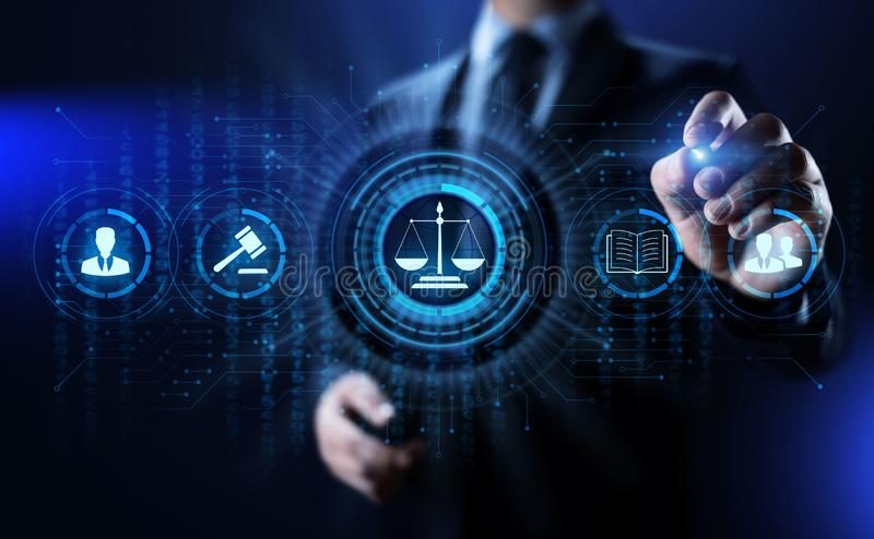Avvocato legale di consiglio di affari di avvocato Conformità di lavoro fotografia stock libera da diritti