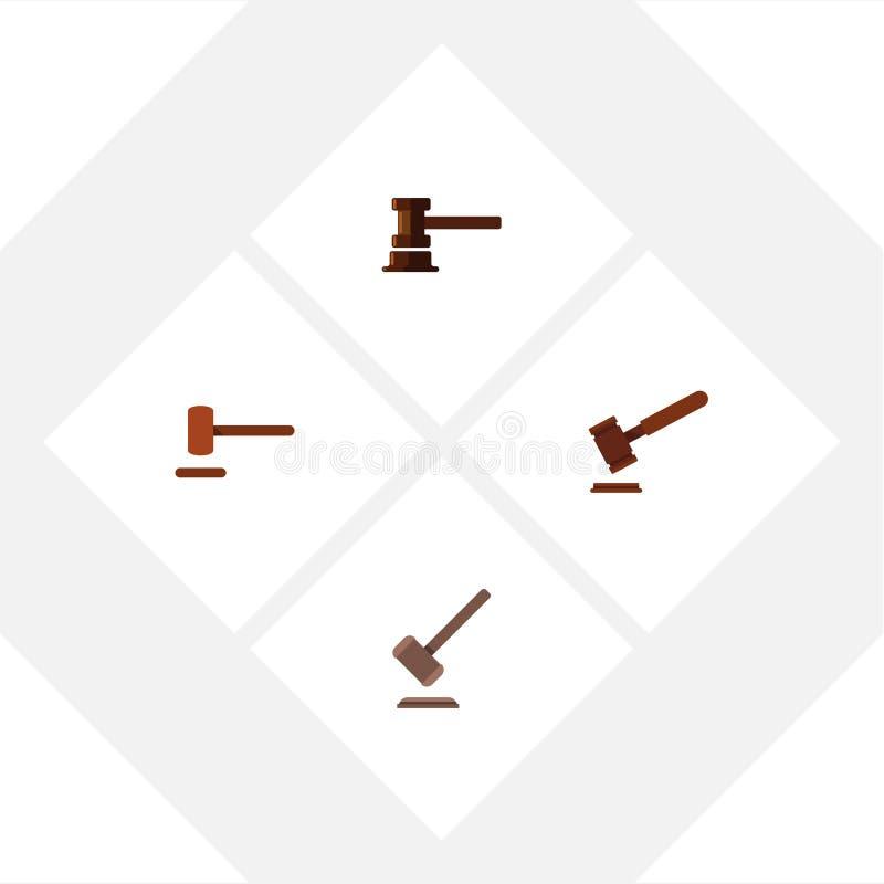 Avvocato piano Set Of Defense dell'icona, giustizia, tribunale ed altri oggetti di vettore Inoltre comprende la difesa, la giusti illustrazione vettoriale