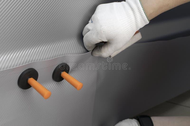 Avvolga una stagnola dell'automobile immagini stock libere da diritti
