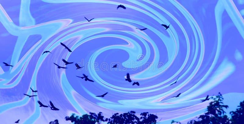 Avvoltoi di circonduzione illustrazione vettoriale