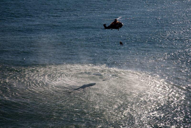 aw139直升机 免版税库存图片