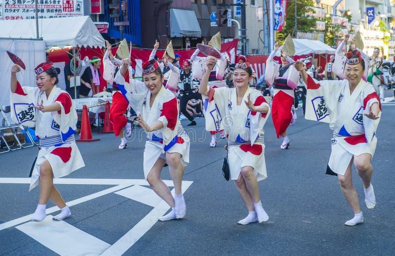 Awa Odori-Festival in Tokyo Japan stockfotografie