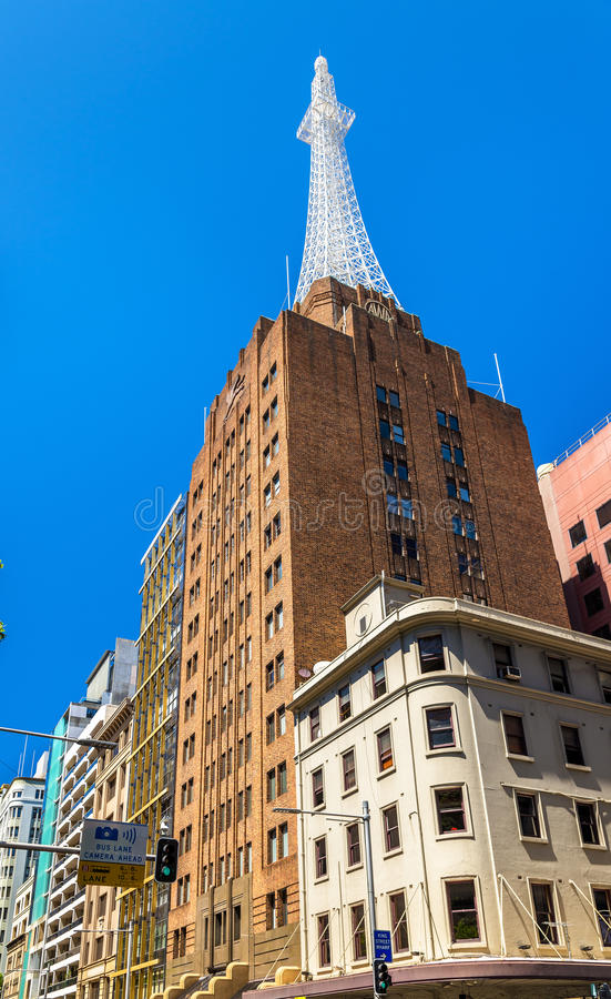 AWA Tower is een bureau en mededelingen complex in Sydney Gebouwd in 1939 royalty-vrije stock afbeeldingen