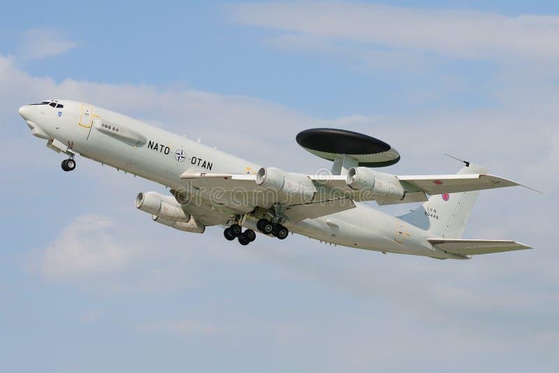 AWACS Boeing ε-3A στοκ φωτογραφία