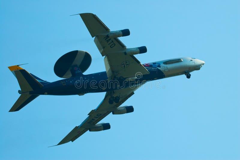 AWACS da OTAN - Radom Airshow - Poland fotos de stock
