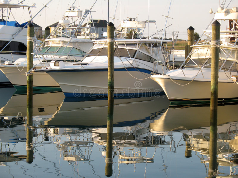 Download Awaiting Anglers stock photo. Image of boats, reflection - 2476516
