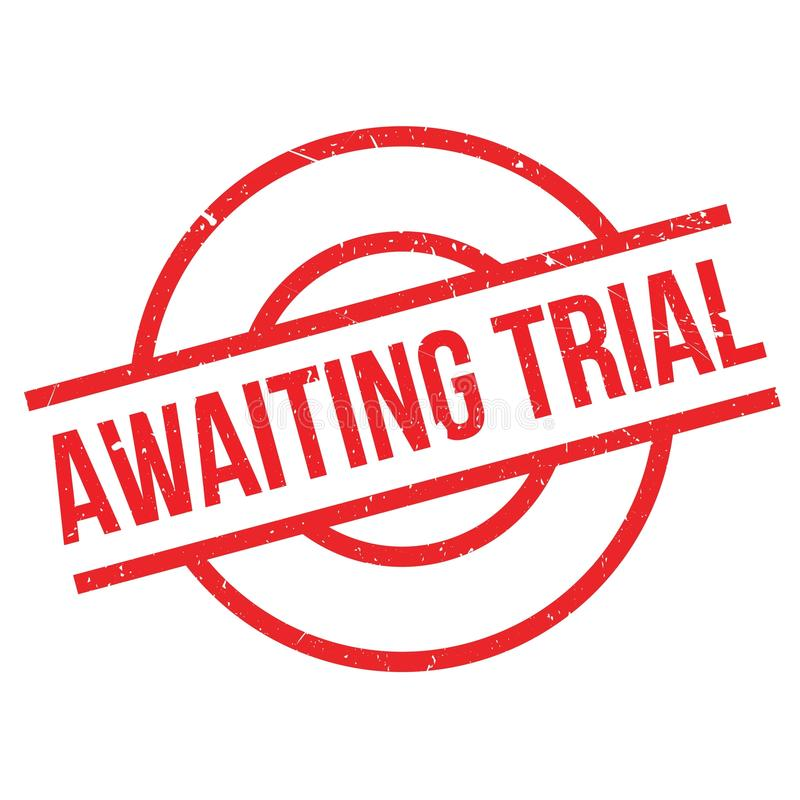 Awaiting Trial rubber stamp. Grunge design with dust scratches. Effects can be easily removed for a clean, crisp look. Color is easily changed vector illustration