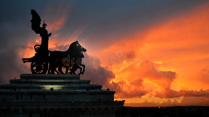 The awakening of statues royalty free stock images