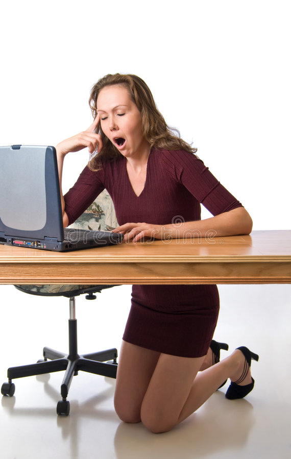 Download Awakes with a yawn stock image. Image of frustration, young - 6794615