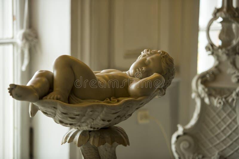Awaking Cherub, Catherine Palace stock photography