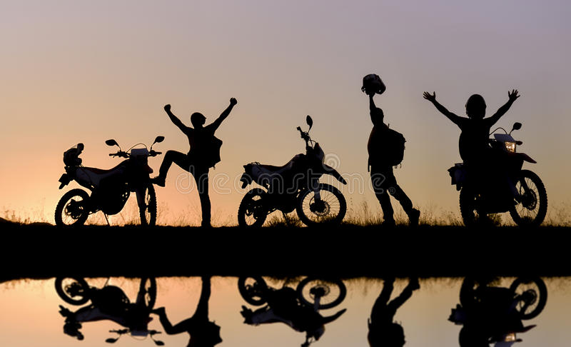 awanturniczy motocykl fotografia royalty free