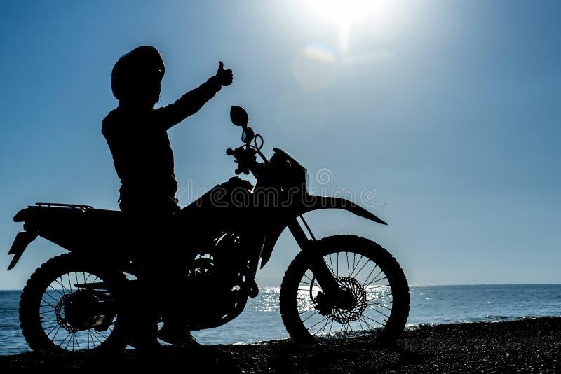 Awanturniczy motocyklista obraz royalty free