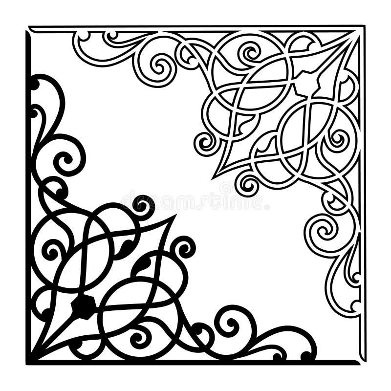 Awarawar selok för VEKTORPRYDNAD 1 royaltyfri illustrationer