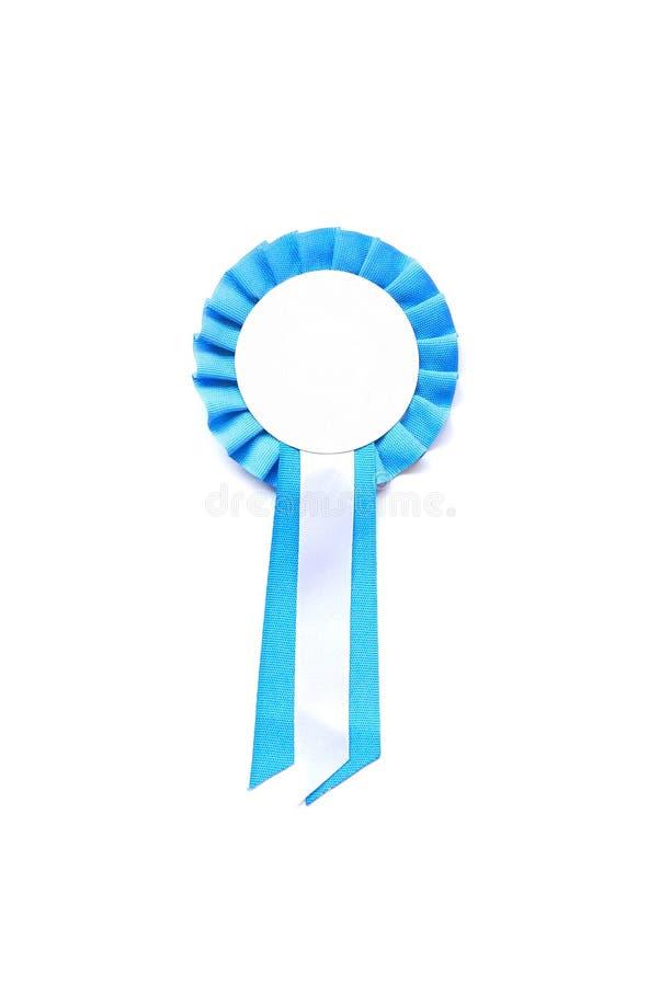 award blank rosette royaltyfri bild