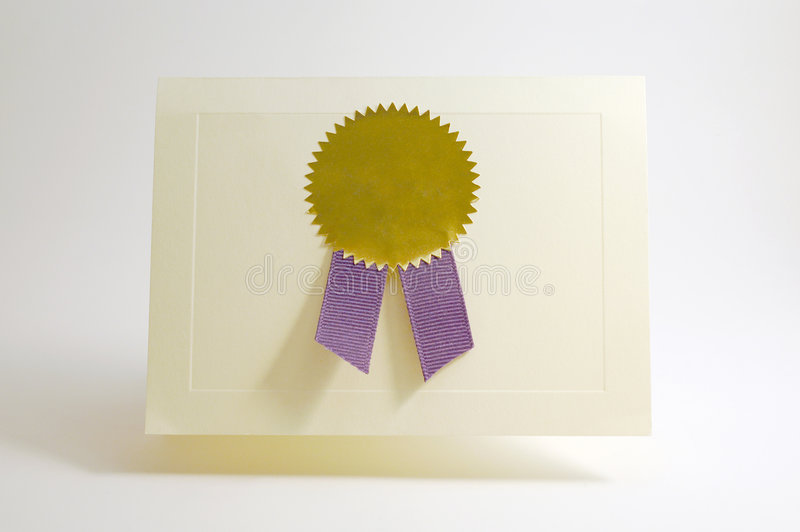 Download Award Card Royalty Free Stock Photo - Image: 3068185