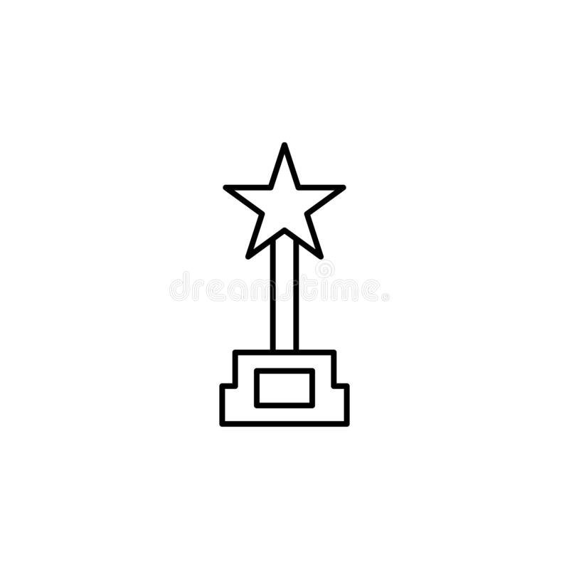 Award cinema icon. Simple thin line, outline vector of movie, cinema, film, screen, flicks icons for UI and UX, website or mobile. Application on white stock illustration