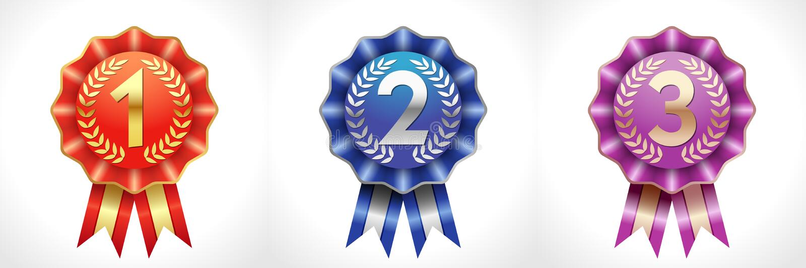 Award colored numbers vector illustration