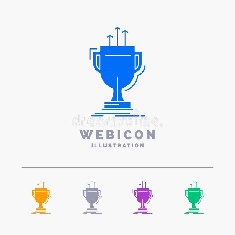Award, competitive, cup, edge, prize 5 Color Glyph Web Icon Template isolated on white. Vector illustration. Vector EPS10 Abstract Template background vector illustration