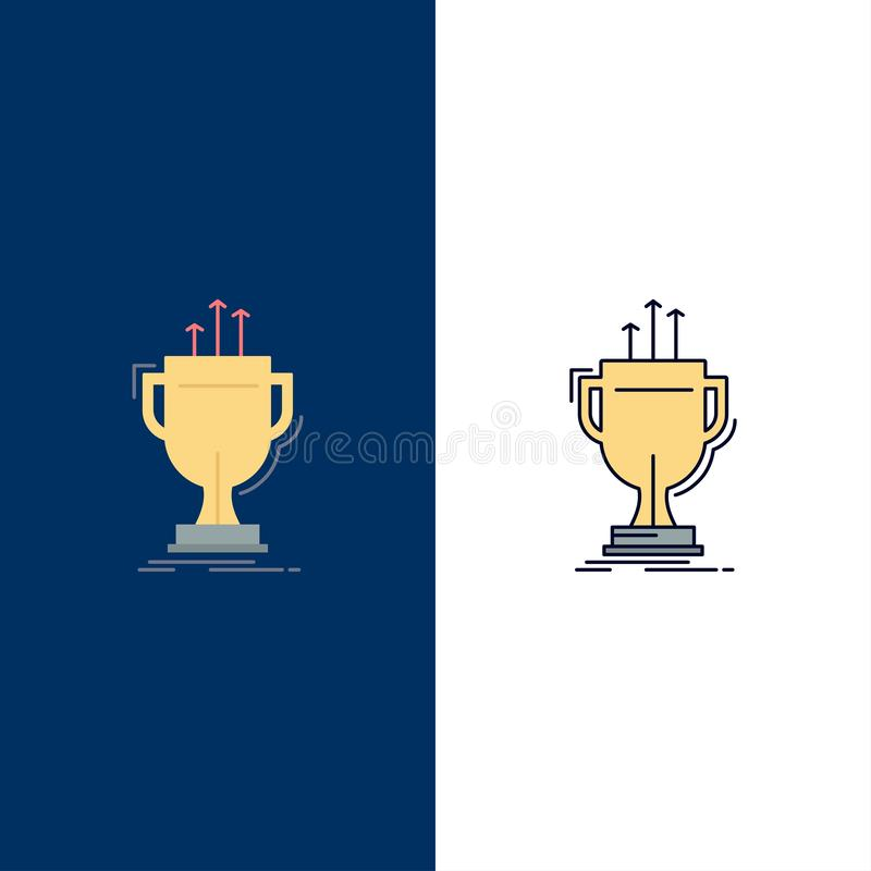 Award, competitive, cup, edge, prize Flat Color Icon Vector royalty free illustration