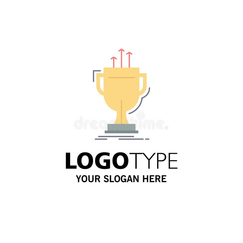 Award, competitive, cup, edge, prize Flat Color Icon Vector stock illustration