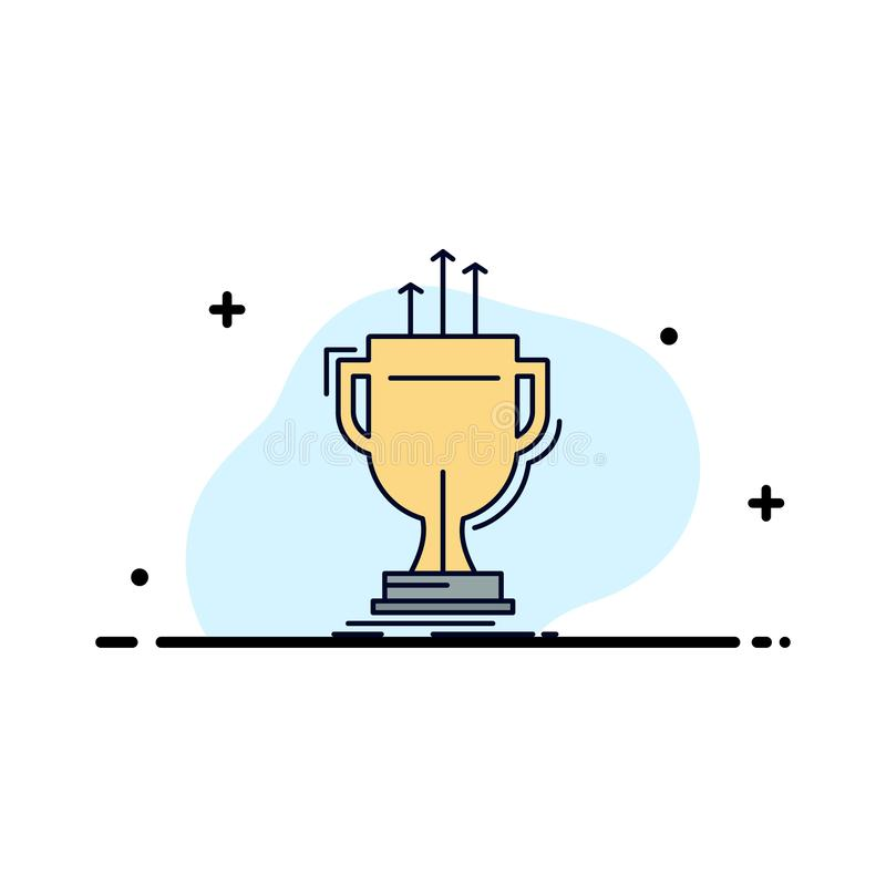 Award, competitive, cup, edge, prize Flat Color Icon Vector vector illustration