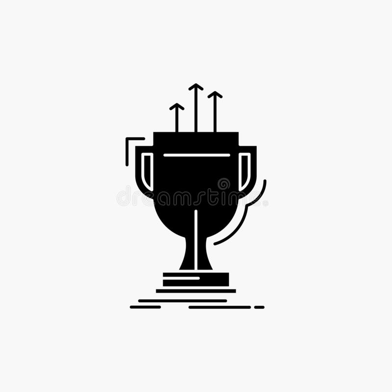 Award, competitive, cup, edge, prize Glyph Icon. Vector isolated illustration. Vector EPS10 Abstract Template background stock illustration