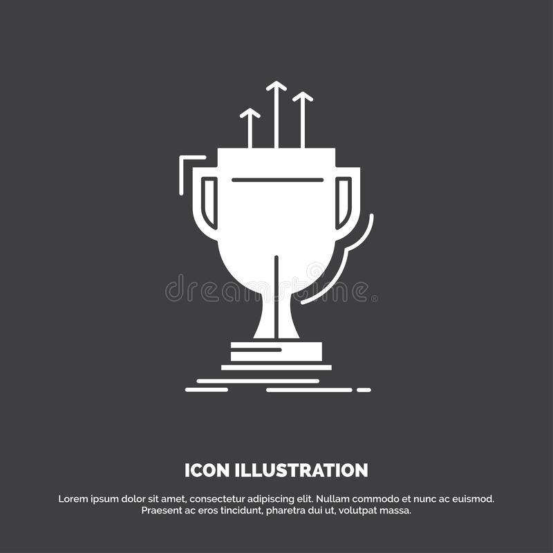 Award, competitive, cup, edge, prize Icon. glyph vector symbol for UI and UX, website or mobile application. Vector EPS10 Abstract Template background royalty free illustration