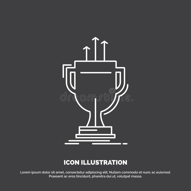 Award, competitive, cup, edge, prize Icon. Line vector symbol for UI and UX, website or mobile application. Vector EPS10 Abstract Template background stock illustration