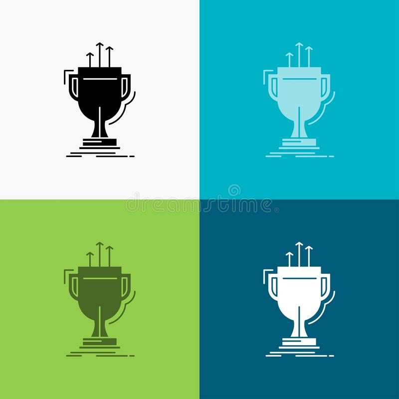 Award, competitive, cup, edge, prize Icon Over Various Background. glyph style design, designed for web and app. Eps 10 vector. Illustration. Vector EPS10 vector illustration