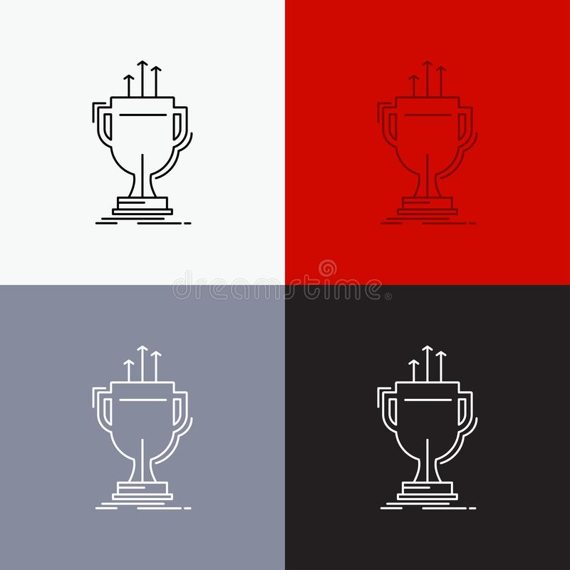 Award, competitive, cup, edge, prize Icon Over Various Background. Line style design, designed for web and app. Eps 10 vector. Illustration. Vector EPS10 royalty free illustration