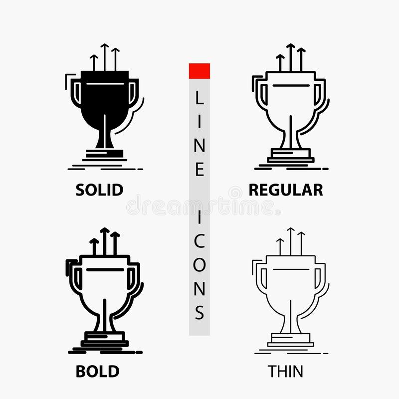 Award, competitive, cup, edge, prize Icon in Thin, Regular, Bold Line and Glyph Style. Vector illustration. Vector EPS10 Abstract Template background vector illustration