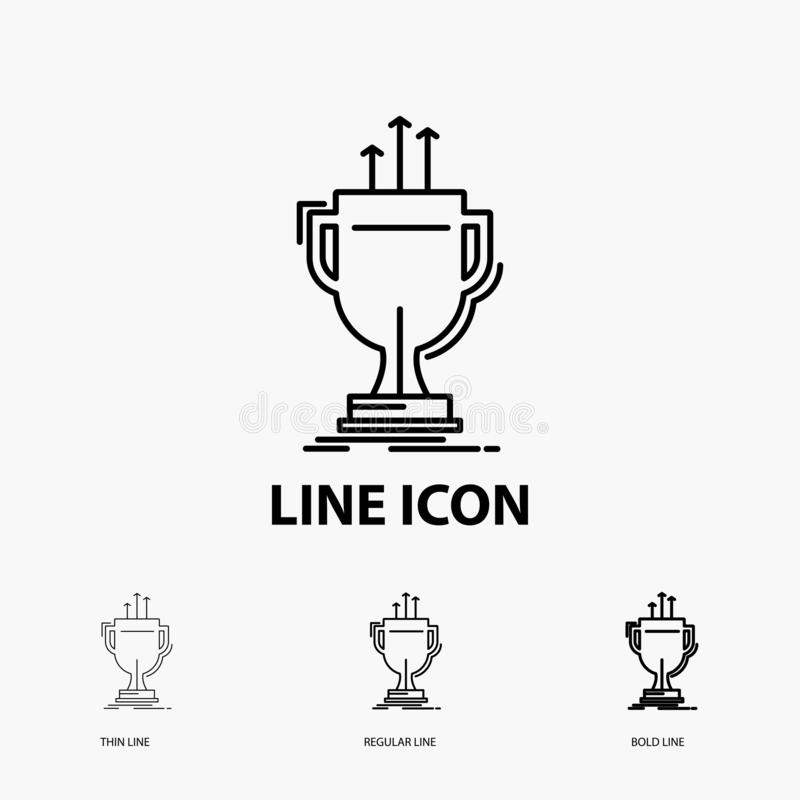 Award, competitive, cup, edge, prize Icon in Thin, Regular and Bold Line Style. Vector illustration. Vector EPS10 Abstract Template background vector illustration