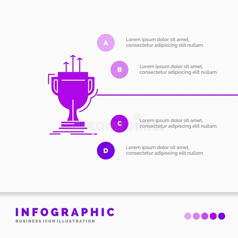 Award, competitive, cup, edge, prize Infographics Template for Website and Presentation. GLyph Purple icon infographic style. Vector illustration.. Vector EPS10 royalty free illustration