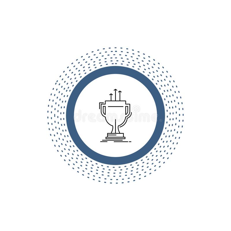 Award, competitive, cup, edge, prize Line Icon. Vector isolated illustration. Vector EPS10 Abstract Template background royalty free illustration