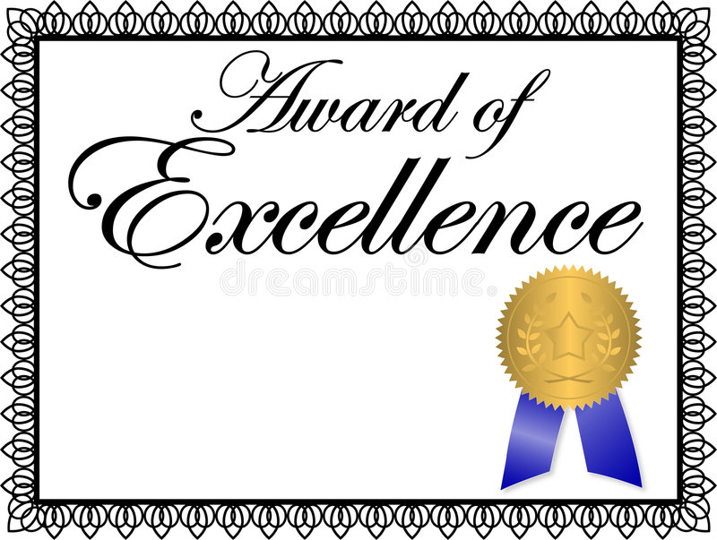 Award of Excellence/ai. Illustration of a certificate...Award of Excellence...personalize with copy in the open area...ai file available vector illustration