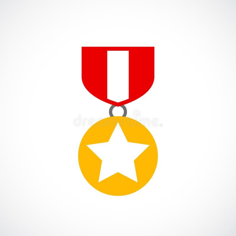 Award gold order icon vector illustration